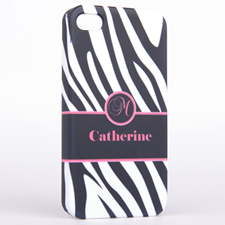 Zebra pattern Monogrammed iPhone 4