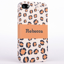 Leopard pattern Monogrammed iPhone 4