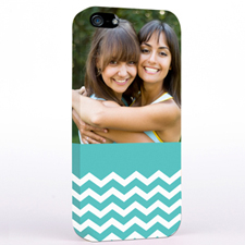 Aqua Chevron Pattern iPhone 5