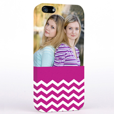 Hot Pink Chevron Pattern iPhone 5