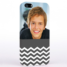 Grey Chevron Pattern iPhone 5