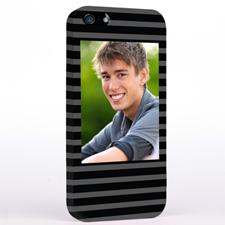 Grey Stripes Pattern Photo iPhone 5