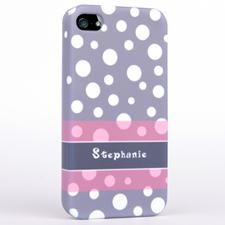 Grey Polka Dots Pattern iPhone 5