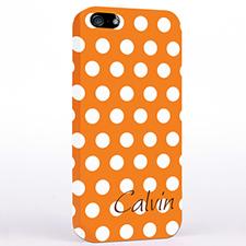 Orange Polka Dots Background iPhone 4