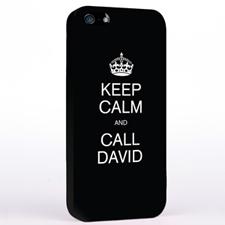 Black Keep Calm Slogan iPhone 5