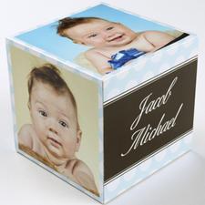 Polka Dots Baby Boy Birth Announcement