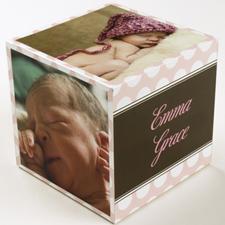Polka Dots Baby Girl Birth Announcement