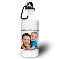 Personalized Photo Black Picture Perfect Water Bottle