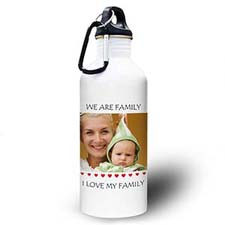 Personalized Photo Little Sweet Hearts Water Bottle