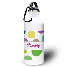 Personalized Photo Modern Dots Water Bottle