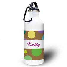 Personalized Photo Girl Polka Dots Water Bottle