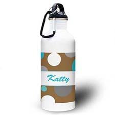 Personalized Photo Boy Polka Dots Water Bottle