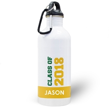 Personalized Photo Yellow Class Of 2017 Water Bottle