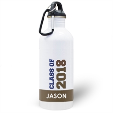 Personalized Photo Chocolate Class Of 2017 Water Bottle