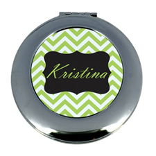 Lime Chevron Monogram