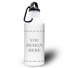 Personalized Photo Your Design Here Water Bottle