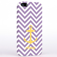 Yellow Anchor Lavender Chevron