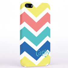 Yellow Carol Blue Chevron