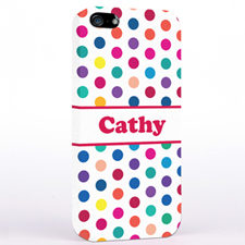 Fuchsia Colorful Polka Dot