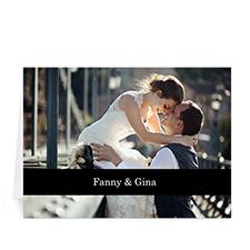 Classic Black Photo Wedding Cards, 5x7 Folded Causal