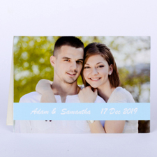 Baby Blue Photo Wedding Cards, 5x7 Folded Causal
