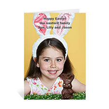 Easter Photo Greeting Cards, 5x7 Portrait Folded