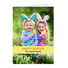 Easter Yellow Photo Greeting Cards, 5x7 Portrait Folded Causal