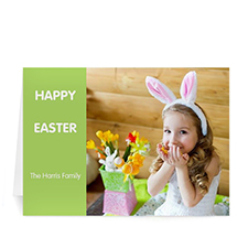 Easter Green Photo Greeting Cards, 5x7 Folded Modern