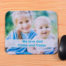 Personalized Photo And Message Mouse Pad