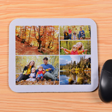 Personalized White 5 Collage Mouse Pad