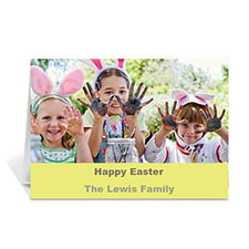 Easter Yellow Photo Greeting Cards, 5x7 Folded Simple