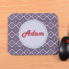 Personalized Black Diamond Mouse Pad