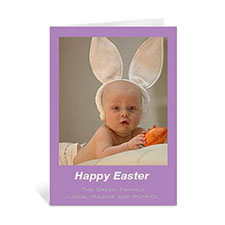 Easter Purple Photo Greeting Cards, 5x7 Portrait Folded Causal