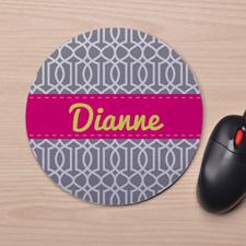 Custom Printed Grey Interlock Design Mouse Pad