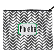 Print Your Own Grey Chevron Bag (8 X 10 Inch)