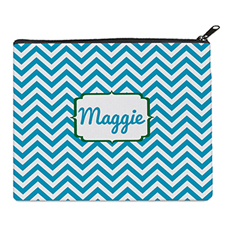 Print Your Own Turquoise Chevron Bag (8 X 10 Inch)