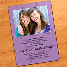 Easter Purple Photo Puzzle Invitation, 5x7