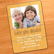 Easter Orange Photo Puzzle Invitation, 5x7
