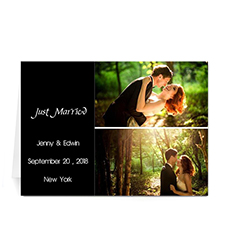 Elegant Collage Black Wedding Announcement