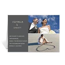 Elegant Collage Grey Wedding Announcement
