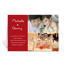 Elegant Collage Red Wedding Announcement