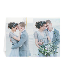 Classic Two Photo Collage Wedding Card