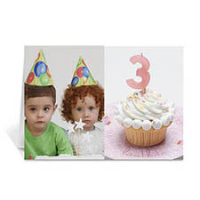 Classic Two Photo Collage Birthday Card