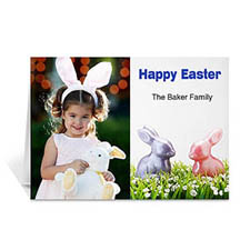 Classic Two Photo Collage Easter Card