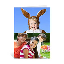 Classic Two Photo Collage Easter Card, Portrait