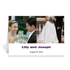 Two Collage Wedding Photo Cards, 5x7 Simple White