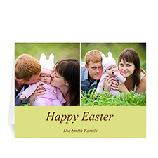 Two Collage Easter Photo Cards, 5x7 Simple Yellow