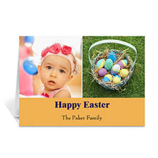 Two Collage Easter Photo Cards, 5x7 Simple Orange