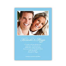 Baby Blue Wedding Announcement, 5x7 Stationery Card