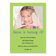 Lime Birthday Invitations, 5x7 Stationery Card